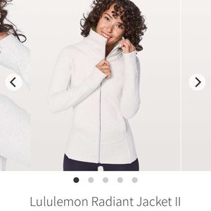 Lululemon radiant jacket Heathered white size 6